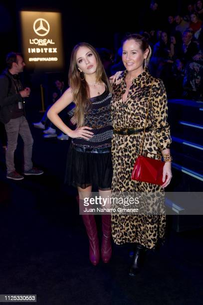 Ana Mena and Fiona Ferrer attend the Duarte fashion show during the Mercedes Benz Fashion Week Autumn/Winter 2019-2020 at Ifema on January 27, 2019...