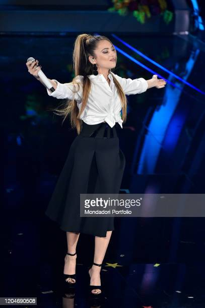 Ana Mena at the third evening of the 70th Sanremo Music Festival on February 6th, 2020 in Sanremo, Italy.