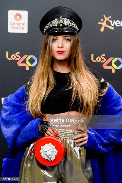 Ana Mena attends 'Los 40 Music Awards' photocall at WiZink Center on November 10, 2017 in Madrid, Spain.