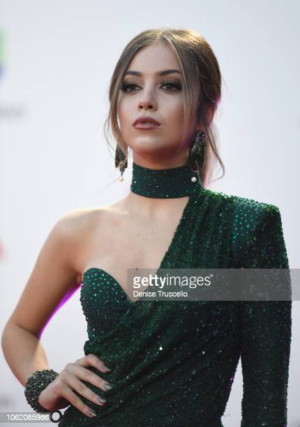 Ana Mena attends the 19th annual Latin GRAMMY Awards at MGM Grand Garden Arena on November 15 2018 in Las Vegas Nevada