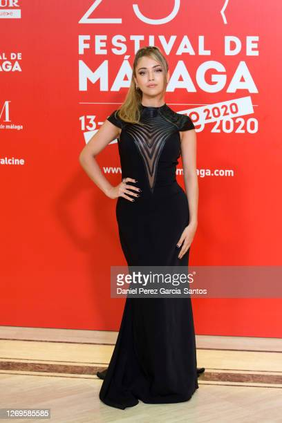 Ana Mena attends the photocall on the nineth day of the Malaga Film Festival 2020 on August 29, 2020 in Malaga, Spain.