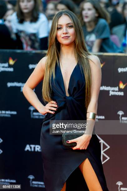 Ana Mena attends the red carpet of the Gala Inaguration during the 20th Malaga Spanish Film Festival at the Cervantes Theater on March 17 2017 in...