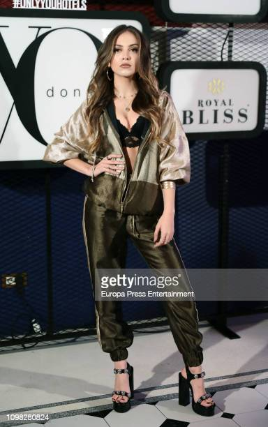Ana Mena attends 'Yo Dona' Mercedes Benz Fashion Week Madrid Autumn/Winter 201920 party at the Only You Hotel on January 22 2019 in Madrid Spain