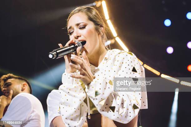 Ana Mena performs on stage during LOS40 Primavera Pop festival at Madrid WiZink Center on May 17 2019 in Madrid Spain