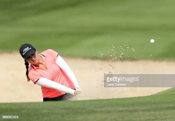 Ana Menendez of Mexico plays her third shot on the par 4 14th hole during the third round of the 2017 Dubai Ladies Classic on the Majlis Course at...