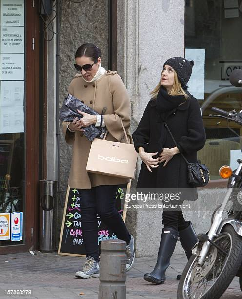 Ana Milan and Alexandra Jimenez are seen on December 6 2012 in Madrid Spain