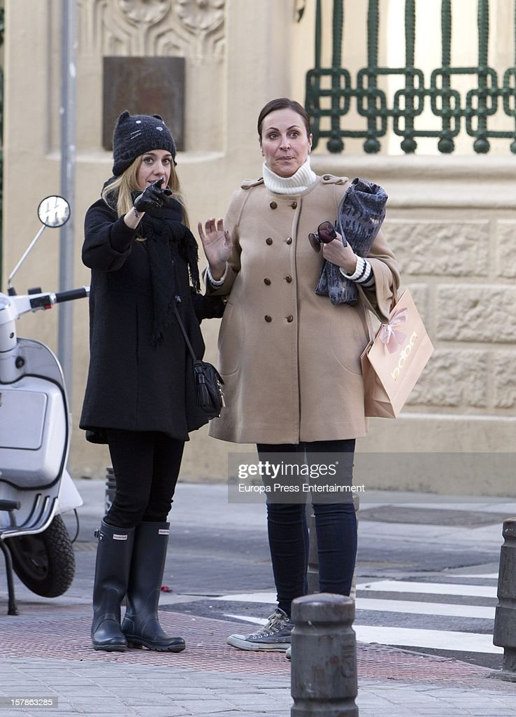 Ana Milan (R) and Alexandra Jimenez are seen on December 6, 2012 in Madrid, Spain.