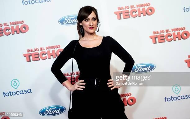Ana Morgade attends 'Bajo El Mismo Techo' Madrid Premiere on January 24 2019 in Madrid Spain