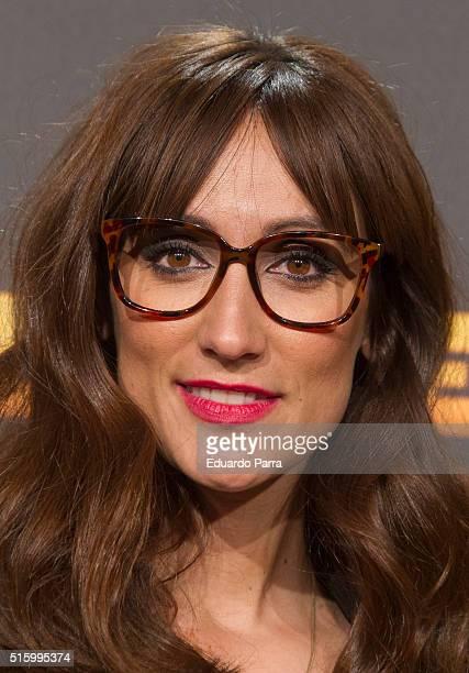 Ana Morgade attends 'El pregon' premiere at Capitol cinema on March 16 2016 in Madrid Spain