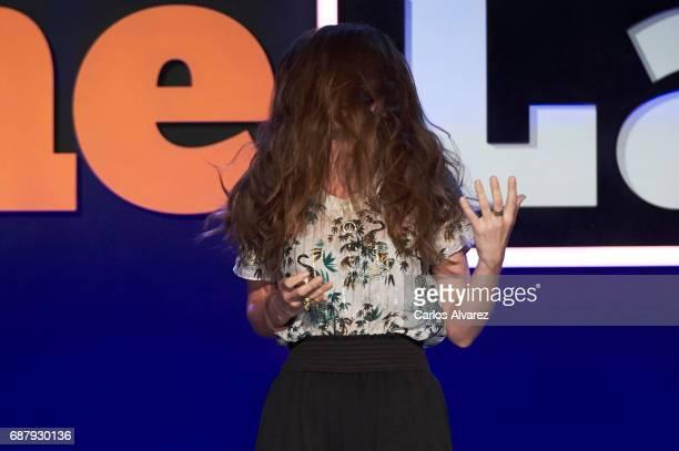 Ana Morgade attends 'Famelab' 2017 at the Museo Nacional de la Ciencia y Tecnologia on May 24 2017 in Madrid Spain