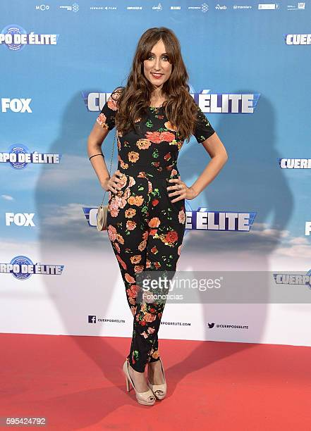 Ana Morgade attends the 'Cuerpo de Elite' premiere at Capitol cinema on August 25 2016 in Madrid Spain