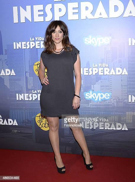 Ana Morgade attends the 'La Vida Inesperada' premiere at Callao cinema on April 24 2014 in Madrid Spain