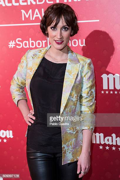 Ana Morgade attends the Mahou campaign on February 10 2016 in Madrid Spain