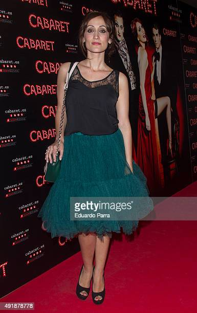 Ana Morgade attends the'Cabaret Broadway Musical' photocall at Rialto theatre on October 8 2015 in Madrid Spain