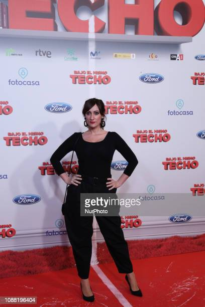 Ana Morgade presenter comedian and Spanish actress attended the premiere posing in the photocall A film directed by Juana Macias with Jordi Snchez...