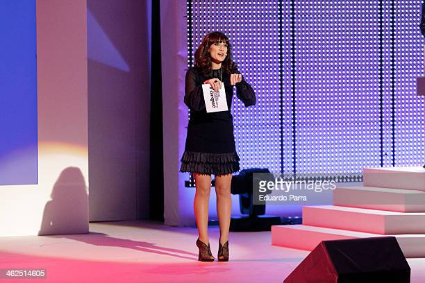 Ana Morgade speaks during XIX Premio Cinematografico Jose Maria Forque at Palacio de Congresos on January 13 2014 in Madrid Spain