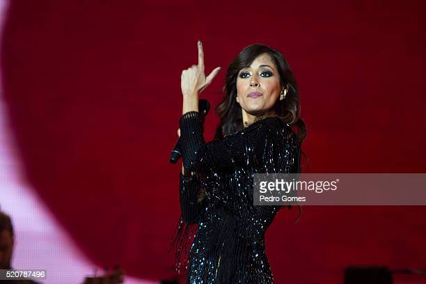 Ana Moura performing in MEO Arena on April 9 2016 in Lisbon Portugal