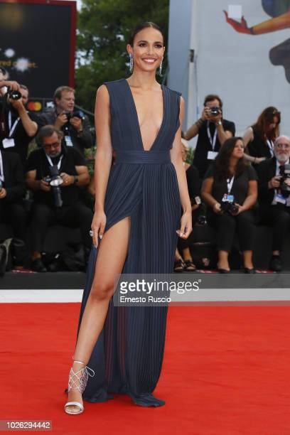 Ana Moya Calzado walk the red carpet ahead of the 'The Sisters Brothers' screening during the 75th Venice Film Festival at Sala Grande on September 2...