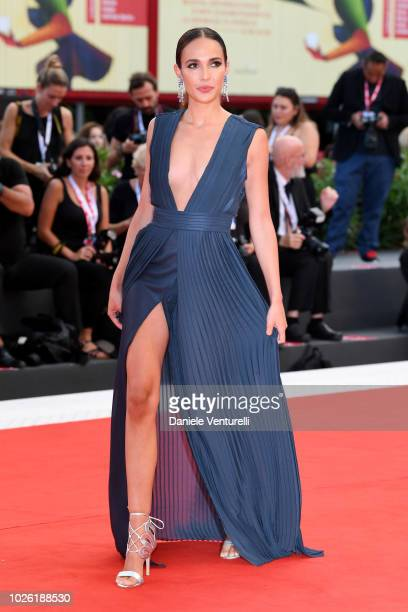Ana Moya Calzado walks the red carpet ahead of the 'The Sisters Brothers' screening during the 75th Venice Film Festival at Sala Grande on September...