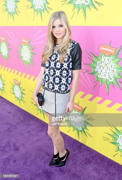 Ana MulvoyTen arrives at Nickelodeon's 26th Annual Kids' Choice Awards at USC Galen Center on March 23 2013 in Los Angeles California