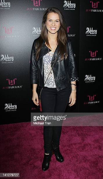 Ana Nogueira arrives at the launch party for 'Abbey Dawn By Avril Lavigne' held at The Viper Room on March 13 2012 in West Hollywood California