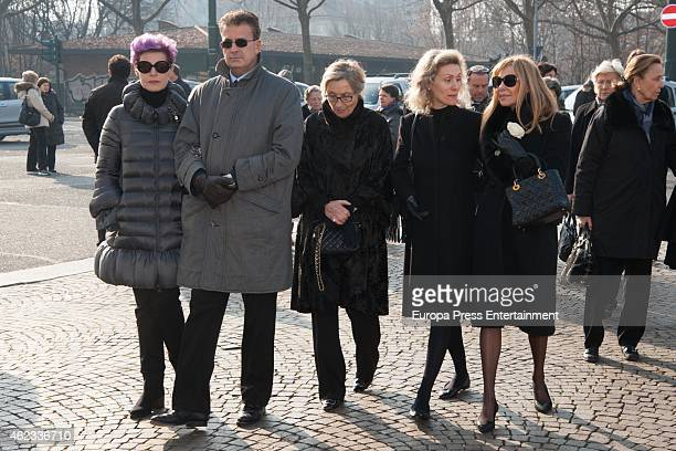 Ana Obregon Antonia DellAtte and Desideria di Assaba Torlonia attend the funeral service for Princess Sandra Torlonia grand daughter of King Alfonso...