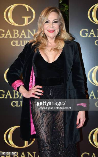 Ana Obregon attend the Julio Iglesias Jr 45th birthday party at Gabana Club on February 19 2018 in Madrid Spain