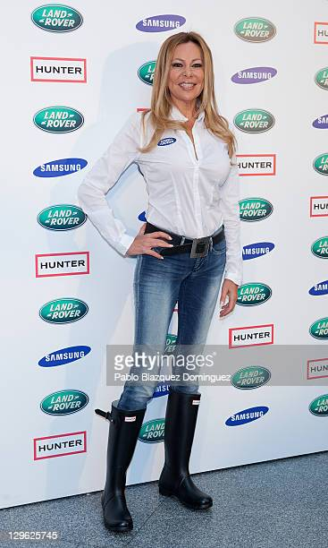 Ana Obregon attends 'Land Rover Discovery Challenge' presentation at Atocha on October 19 2011 in Madrid Spain