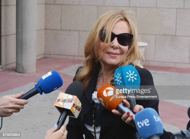 Ana Obregon attends the funeral chapel for the bullfighter Sebastian Palomo Linares on April 25 2017 in Madrid Spain