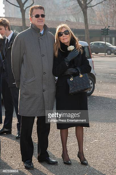 Ana Obregon attends the funeral service for Princess Sandra Torlonia grand daughter of King Alfonso XIII of Spain on January 08 2015 in Turin Italy