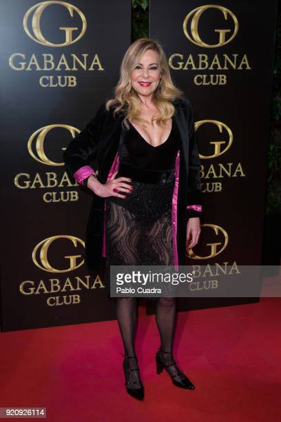 Ana Obregon attends the Julio Iglesias Jr 45th birthday party at Gabana Club on February 19 2018 in Madrid Spain