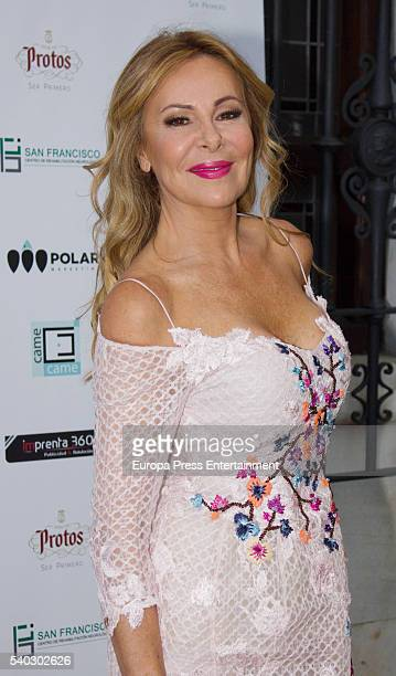 Ana Obregon attends the presentation of Came Came Foundation for neurology therapy at Gaztelubide restaurant on June 14 2016 in Madrid Spain