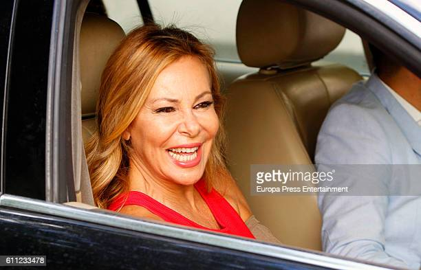 Ana Obregon is seen on September 28 2016 in Madrid Spain