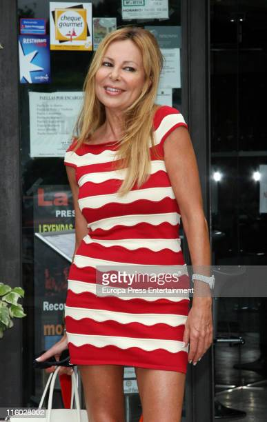Ana Obregon is seen sighting on June 14 2011 in Madrid Spain