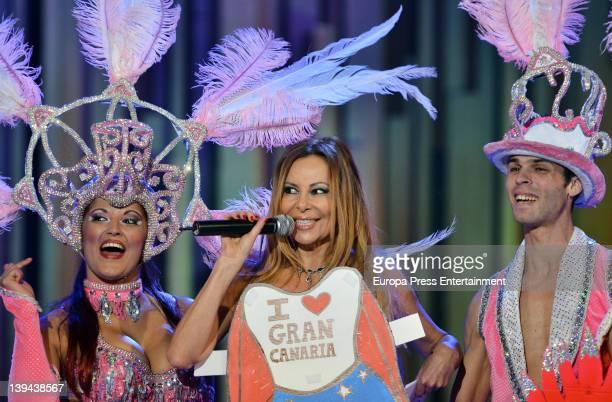 Ana Obregon presents the XV Carnival Gala Drag Queen on February 18 2012 in Las Palmas de Gran Canaria Spain
