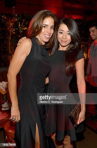 Ana Ortiz and Aimee Garcia attend Latina Magazine's Hollywood Hot List party at The Redbury Hotel on October 3 2013 in Hollywood California