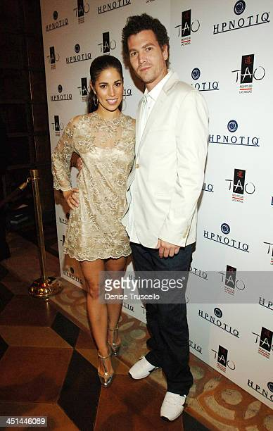 Ana Ortiz and Noah LeBenzon during Hpnotiq and TAO Las Vegas Hosts Ugly Betty Actress Ana Ortiz's Bachelorette Bash Red Carpet at TAO Asian Bistro at...