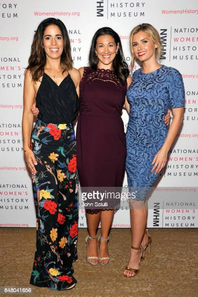 Ana Ortiz Elana PiankoGinsburg and Brianna Brown at the Women Making History Awards at The Beverly Hilton Hotel on September 16 2017 in Beverly Hills...