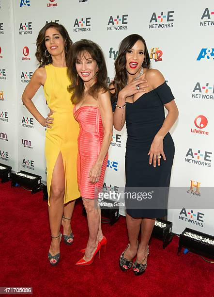 Ana Ortiz, Susan Lucci and Dania Ramirez attend the 2015 A+E Network Upfront at Park Avenue Armory on April 30, 2015 in New York City.