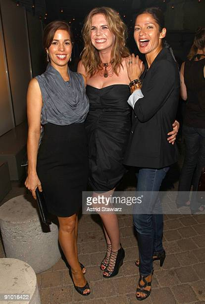 Ana Ortiz, Treana Peake and Jill Hennessy attend the Obakki spring - summer 2010 collection presentation at The Soho Grand - Yard Bar on September...