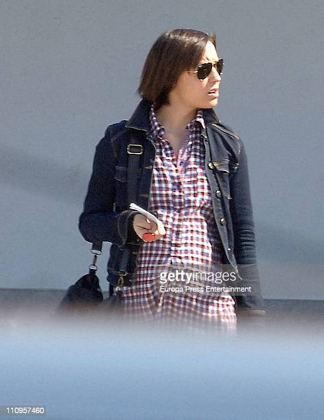 Ana Ortiz wife of Andres Iniesta of Barcelona is sighted on March 24 2011 in Barcelona Spain