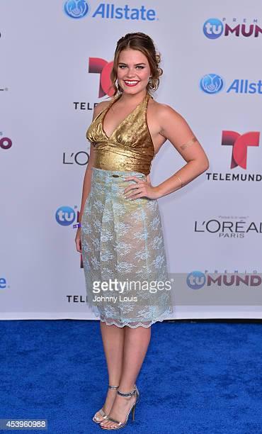 Ana Osorio arrives at Telemundo's Premios Tu Mundo Awards 2014 at American Airlines Arena on August 21 2014 in Miami Florida