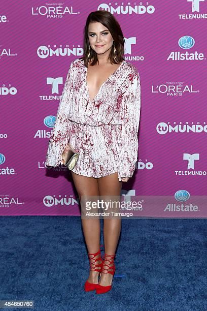 Ana Osorio arrives at Telemundo's 'Premios Tu Mundo Awards' at American Airlines Arena on August 20 2015 in Miami Florida