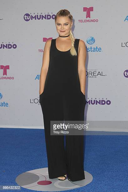 Ana Osorio arrives at Telemundo's Premios Tu Mundo 'Your World' Awards at American Airlines Arena on August 25 2016 in Miami Florida