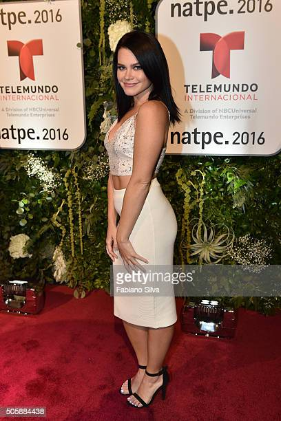 Ana Osorio attends Telemundo NATPE party on January 19 2016 in Miami Beach Florida