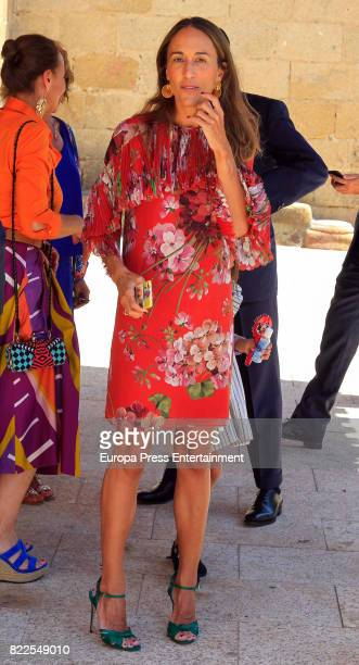 Ana Osorio attends the First Communion of his son on July 3 2017 in Caceres Spain