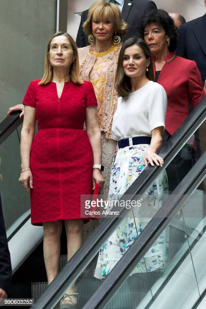 Ana Pastor and Queen Letizia of Spain attend an event organized by 'Mujeres por Africa' Foundation on July 3 2018 in Madrid Spain