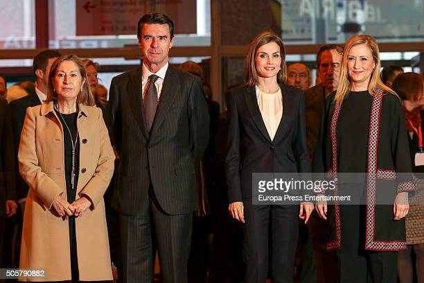 Ana Pastor Jose Manuel Soria Queen Letizia of Spain and Cristina Cifuentes attend FITUR International Tourism Fair opening at Ifema on January 20...