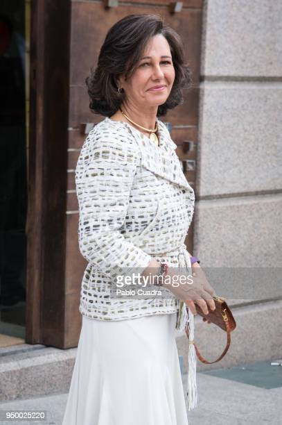 Ana Patricia Botin arrives to a meeting at 'Escuela Superior De Musica Reina Sofia' on April 22 2018 in Madrid Spain