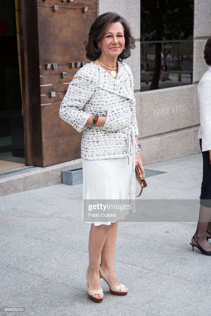 Queen Sofia Arrives To A Meeting At 'Escuela Superior De Musica Reina Sofia' in Madrid